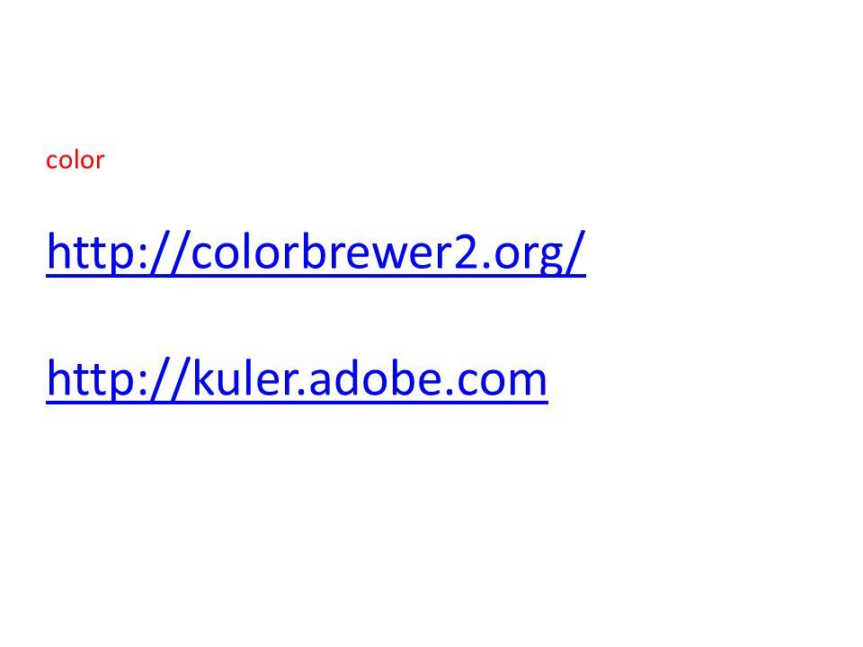 http://colorbrewer2.org/ http://kuler.adobe.com color