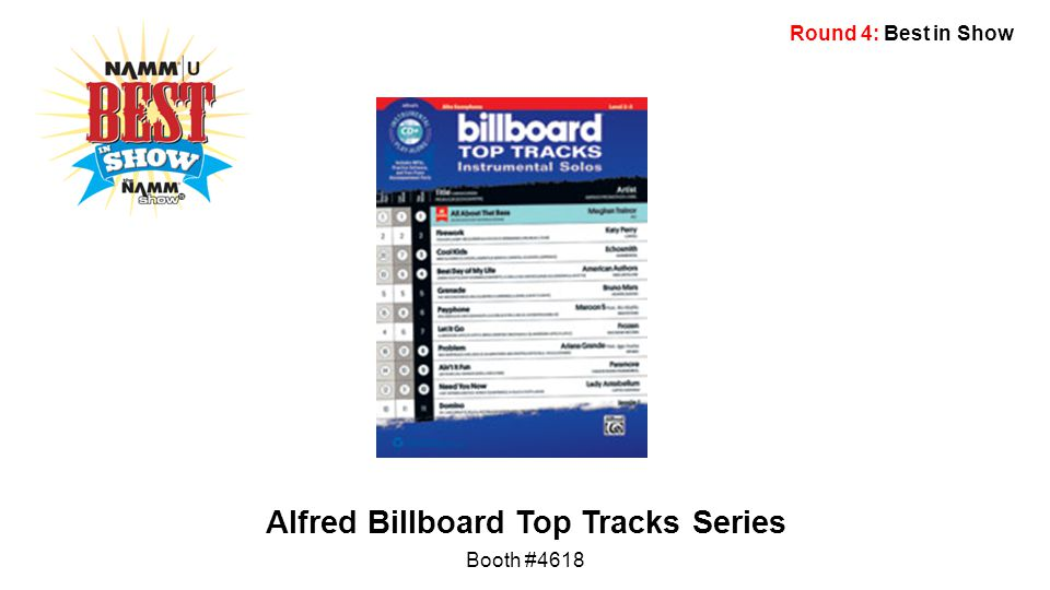 Round 4: Best in Show Alfred Billboard Top Tracks Series Booth #4618