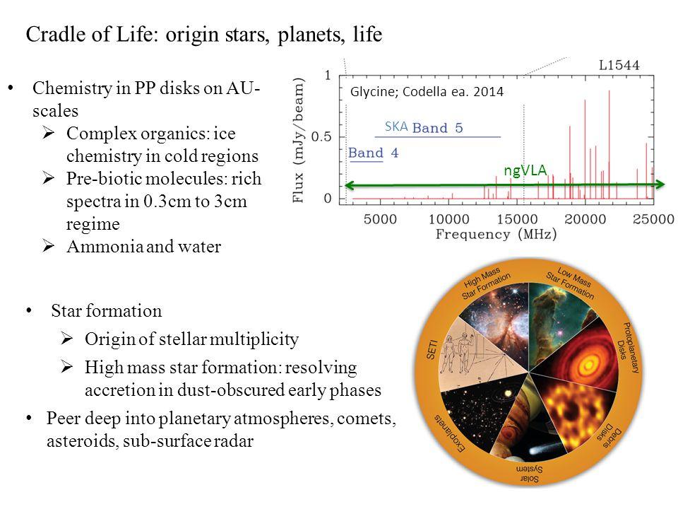 Cradle of Life: origin stars, planets, life Star formation  Origin of stellar multiplicity  High mass star formation: resolving accretion in dust-ob