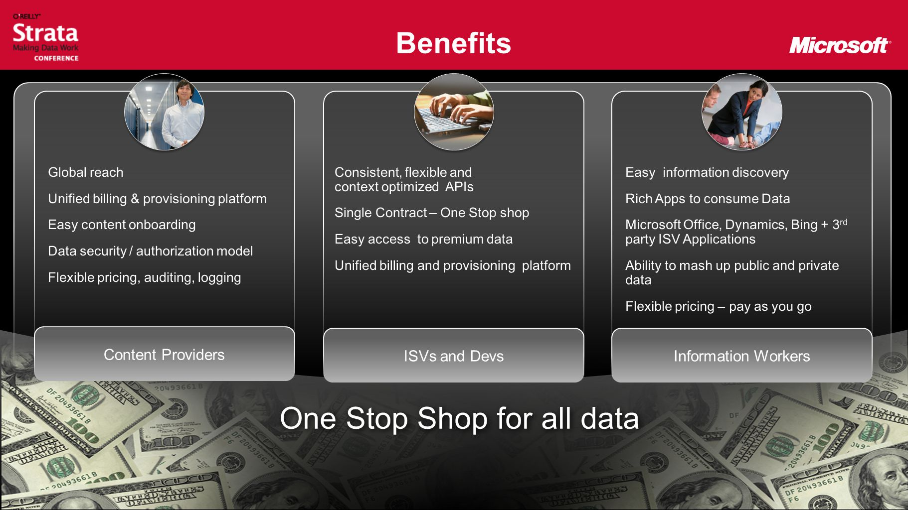 Benefits One Stop Shop for all data