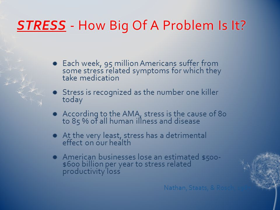 STRESS - How Big Of A Problem Is It?STRESS - How Big Of A Problem Is It.