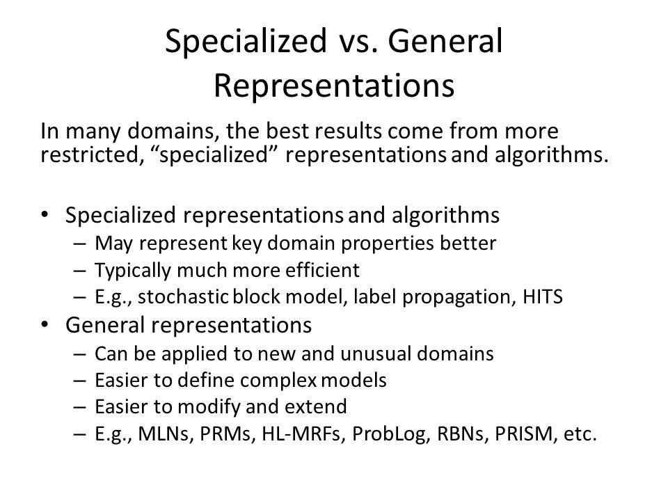 Specialized vs.
