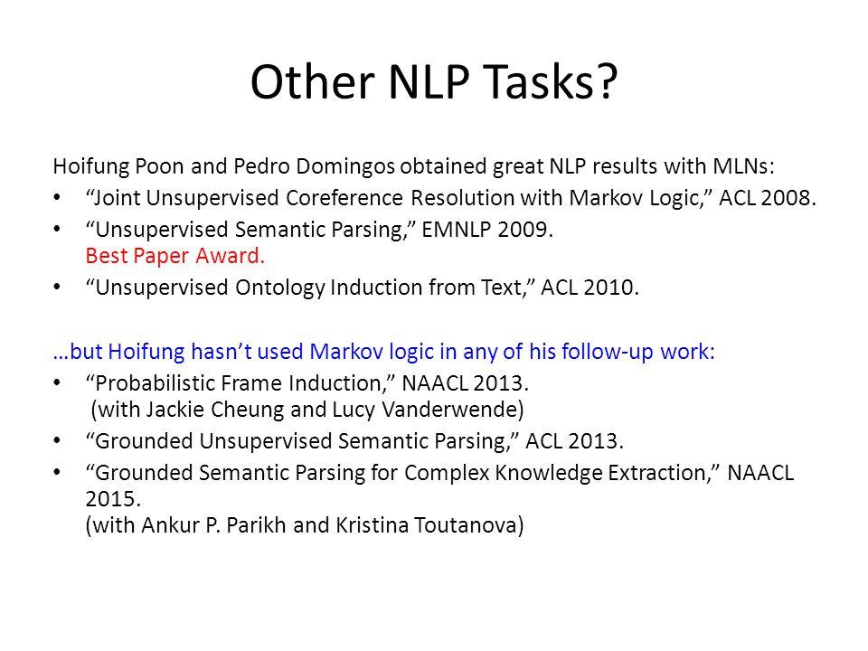 Other NLP Tasks.