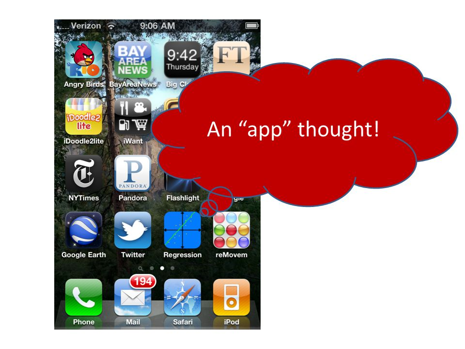 "An ""app"" thought!"
