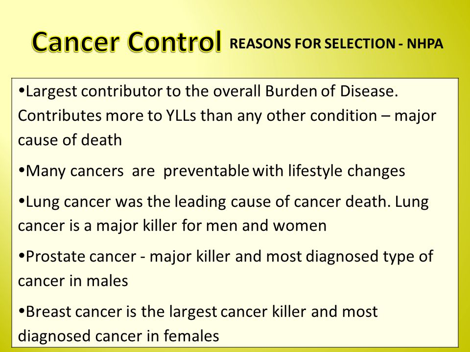  Largest contributor to the overall Burden of Disease.