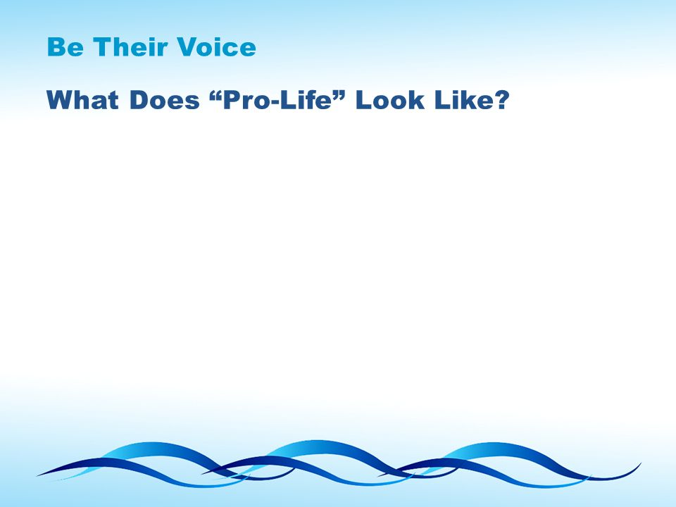 "What Does ""Pro-Life"" Look Like?"