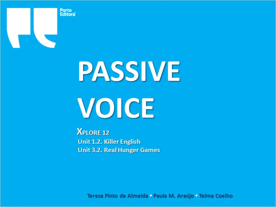 Passive Voice The Passive Voice is used whenever an action is more important than the agent – for example, in reporting the news, in public notices or scientific experiments.