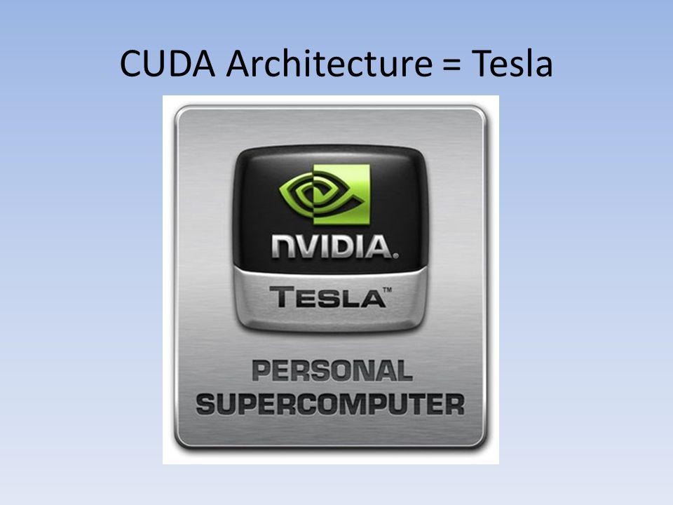 CUDA Architecture = Tesla