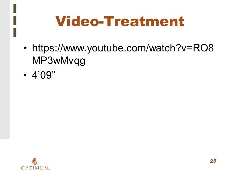 "25 Video-Treatment https://www.youtube.com/watch?v=RO8 MP3wMvqg 4'09"""
