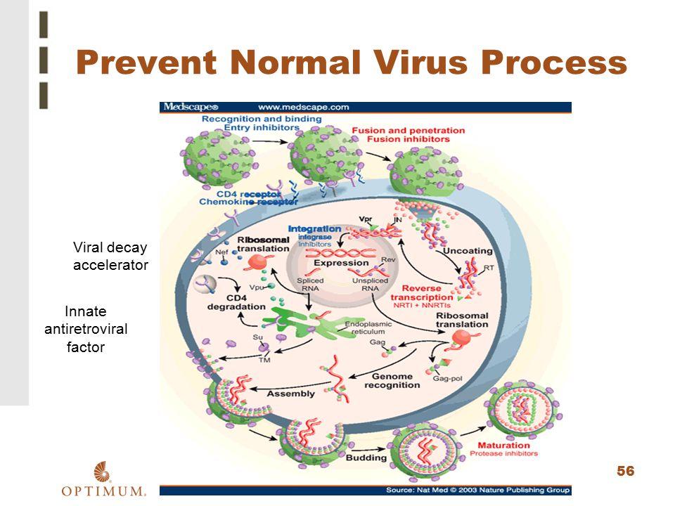 56 Prevent Normal Virus Process Viral decay accelerator Innate antiretroviral factor