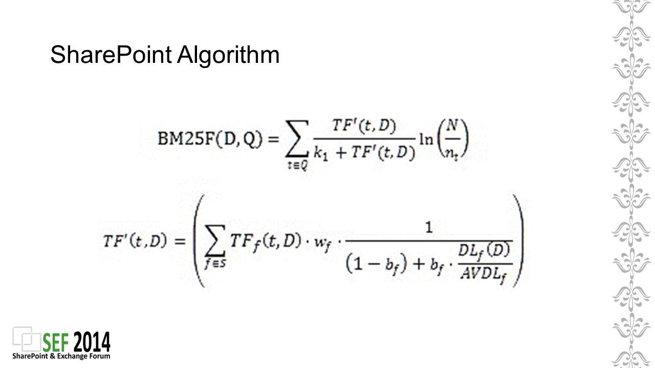 SharePoint Algorithm