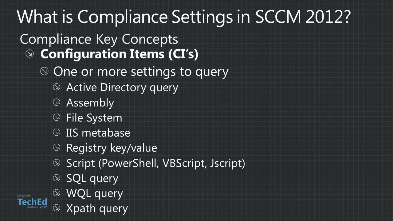 Compliance Key Concepts