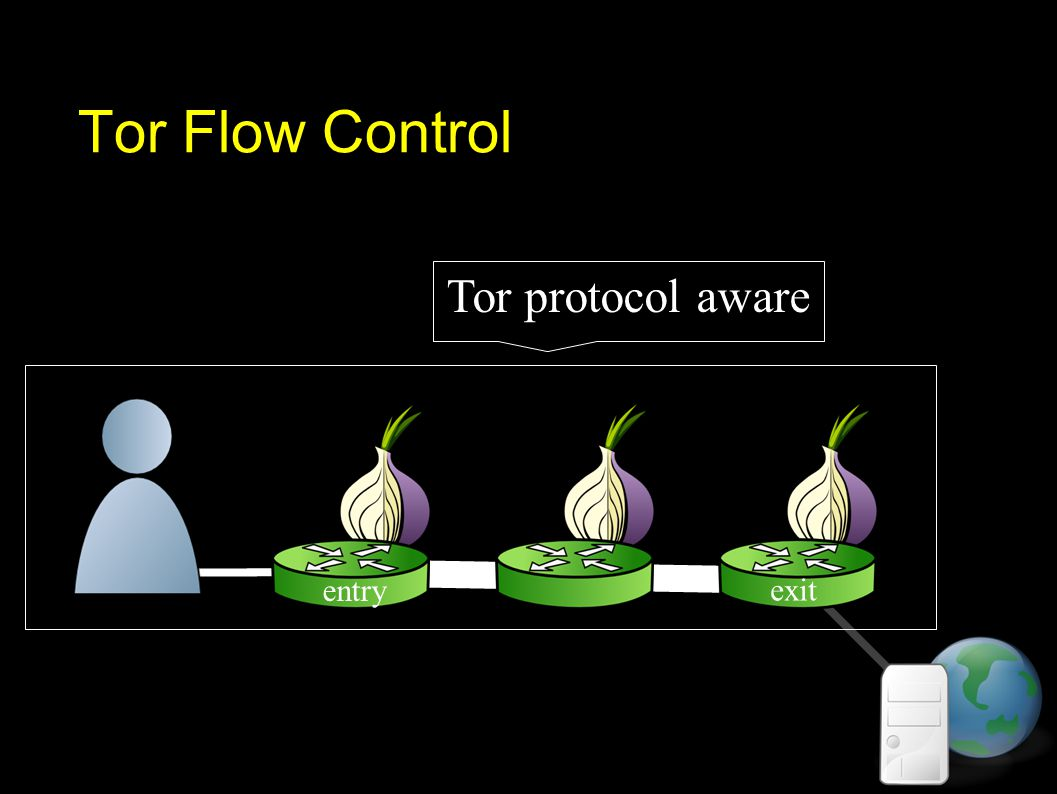 Tor Flow Control Tor protocol aware exit entry