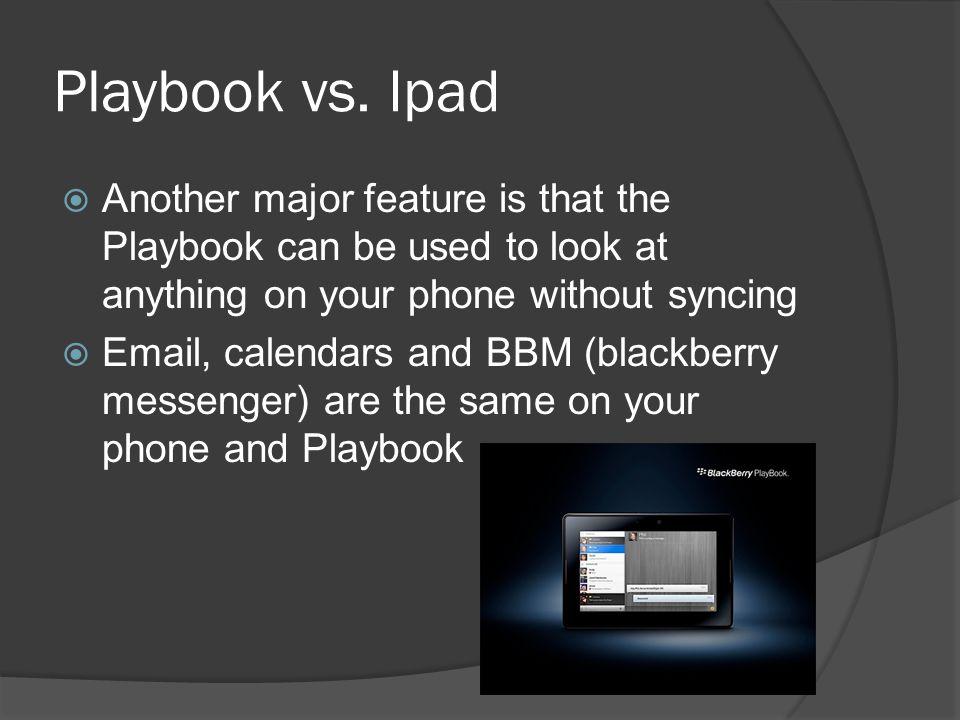 Playbook vs.
