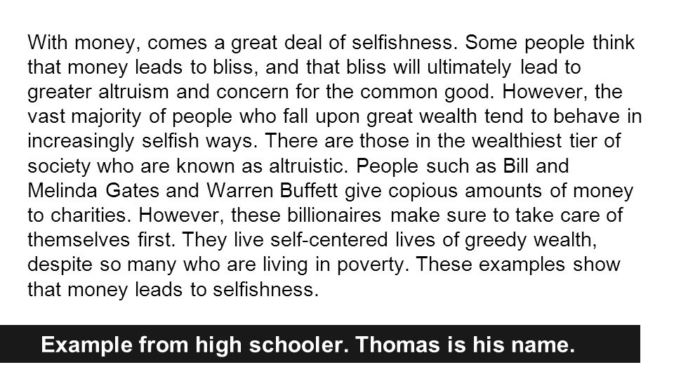 Thomas's Conclusion Working well Tips
