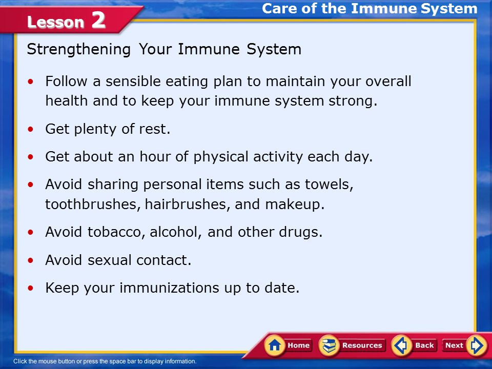 Lesson 2 Active and Passive Immunity Active Immunity The immunity your body develops to protect you from measles and from other diseases is called active immunity.