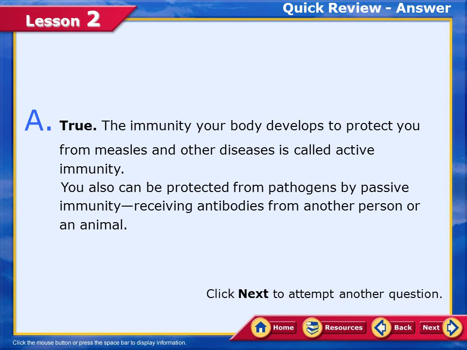 Lesson 2 Quick Review True False Q.