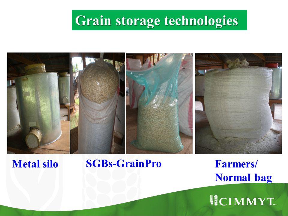 Metal silo SGBs-GrainPro Farmers/ Normal bag Grain storage technologies