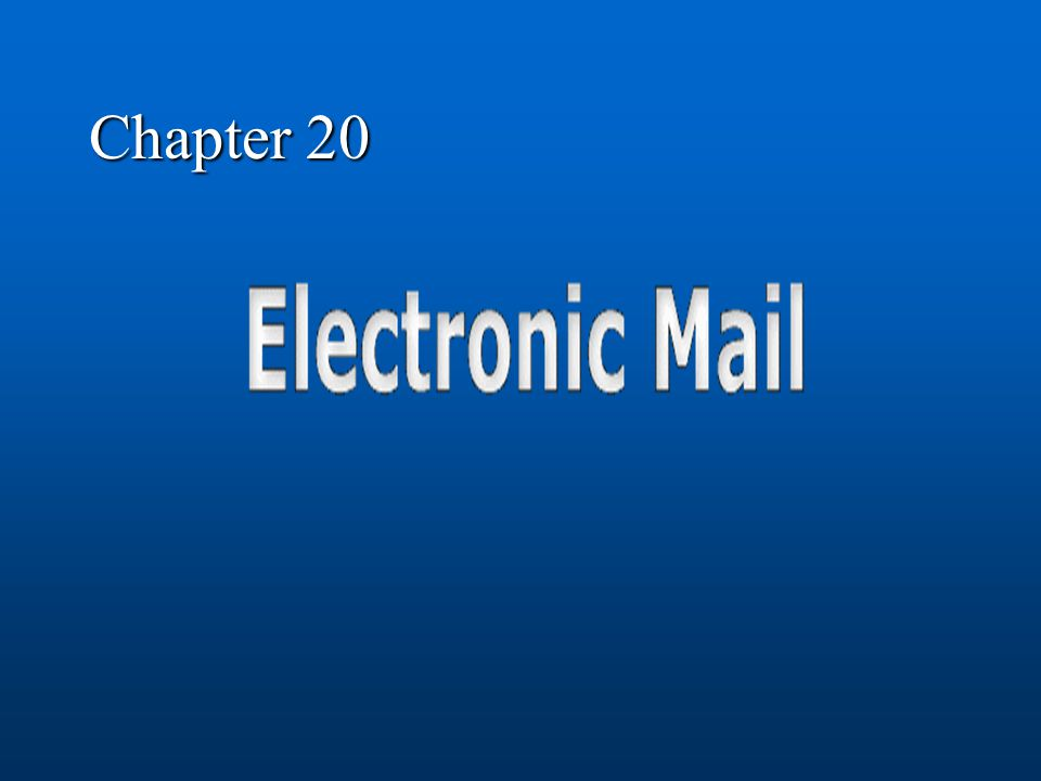 February 5, 2002CE80N -- Lecture #104 Electronic Mail The first Killer App … Allowed users to communicate via computer – asynchronously Modern day GUIs hide original command line operation Uses client-server architecture