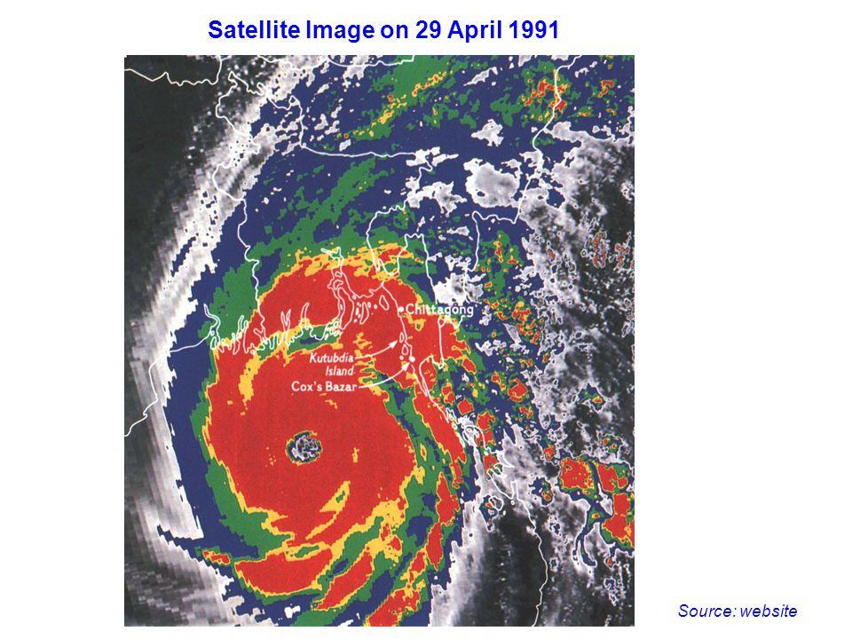 Satellite Image on 29 April 1991 Source: website