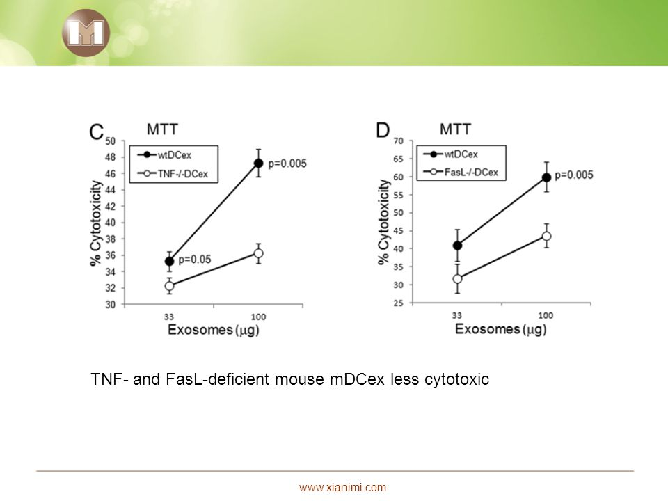 www.xianimi.com TNF- and FasL-deficient mouse mDCex less cytotoxic