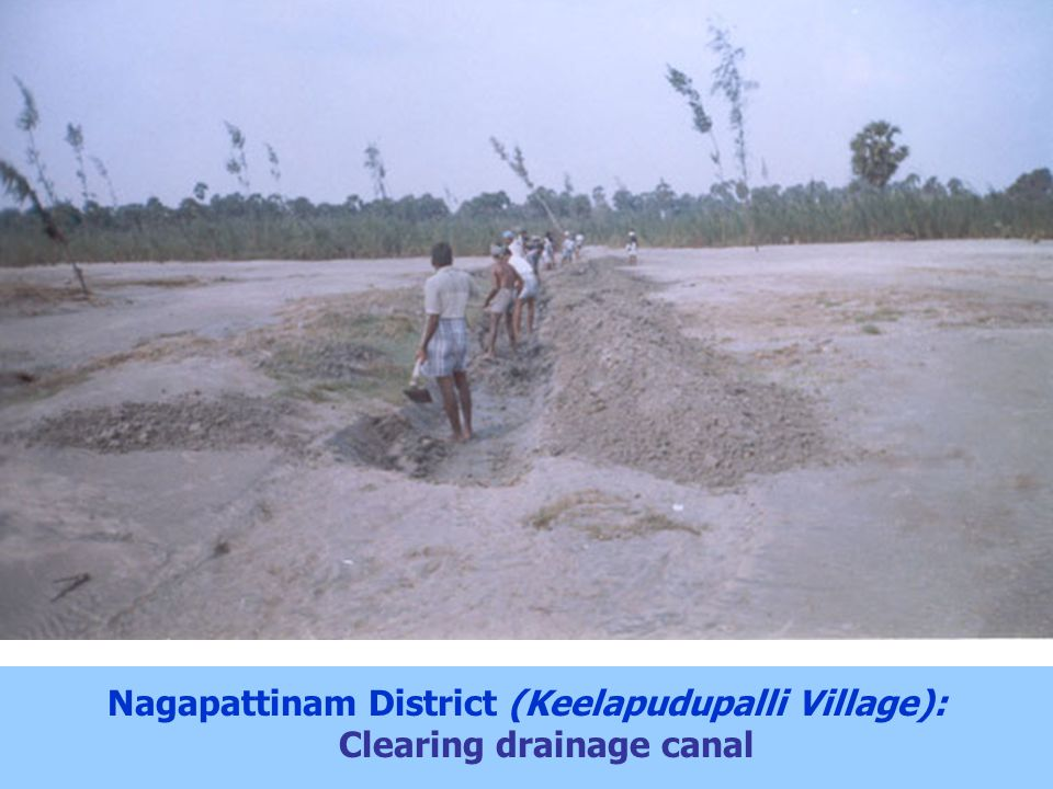 Nagapattinam District (Keelapudupalli Village): Clearing drainage canal