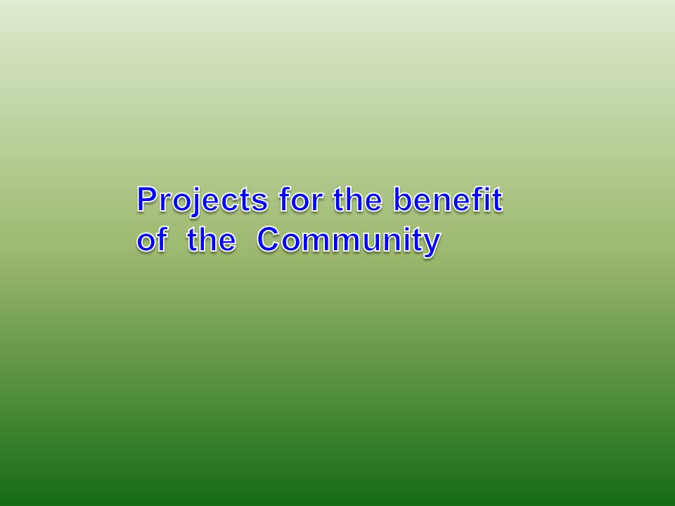 Our major support of the club: 1.Volunteer activity to enable elderly people to be exposed to the world of computers.