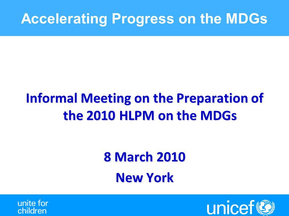 MDG 4. Under 5 Mortality has fallen below 9 million, but achieving MDG4 is still far off