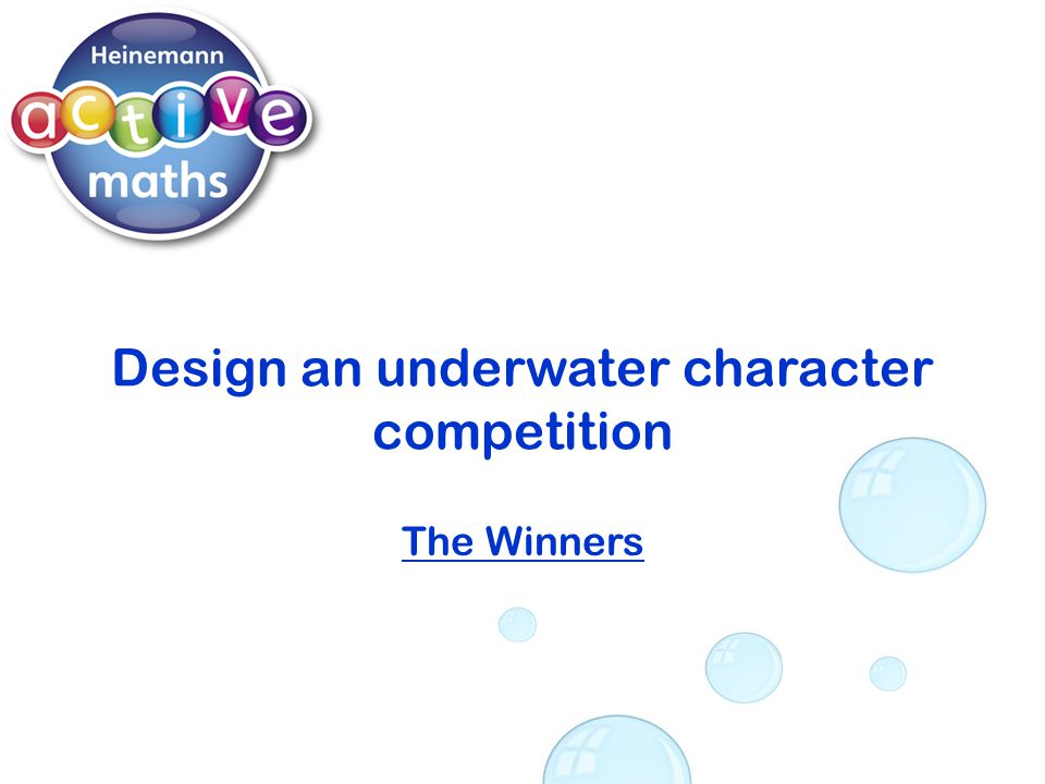 Design an underwater character competition The Winners