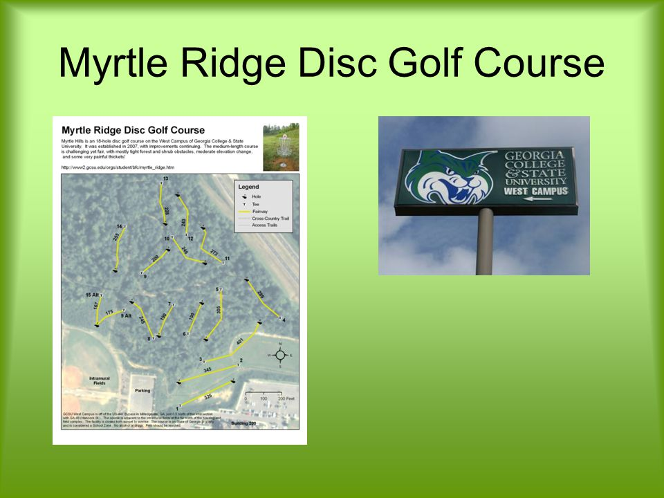 Myrtle Ridge Disc Golf Course