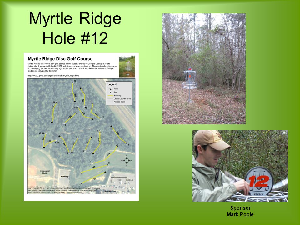 Myrtle Ridge Hole #12 Sponsor Mark Poole