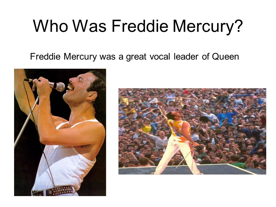 Who Was Freddie Mercury Freddie Mercury was a great vocal leader of Queen