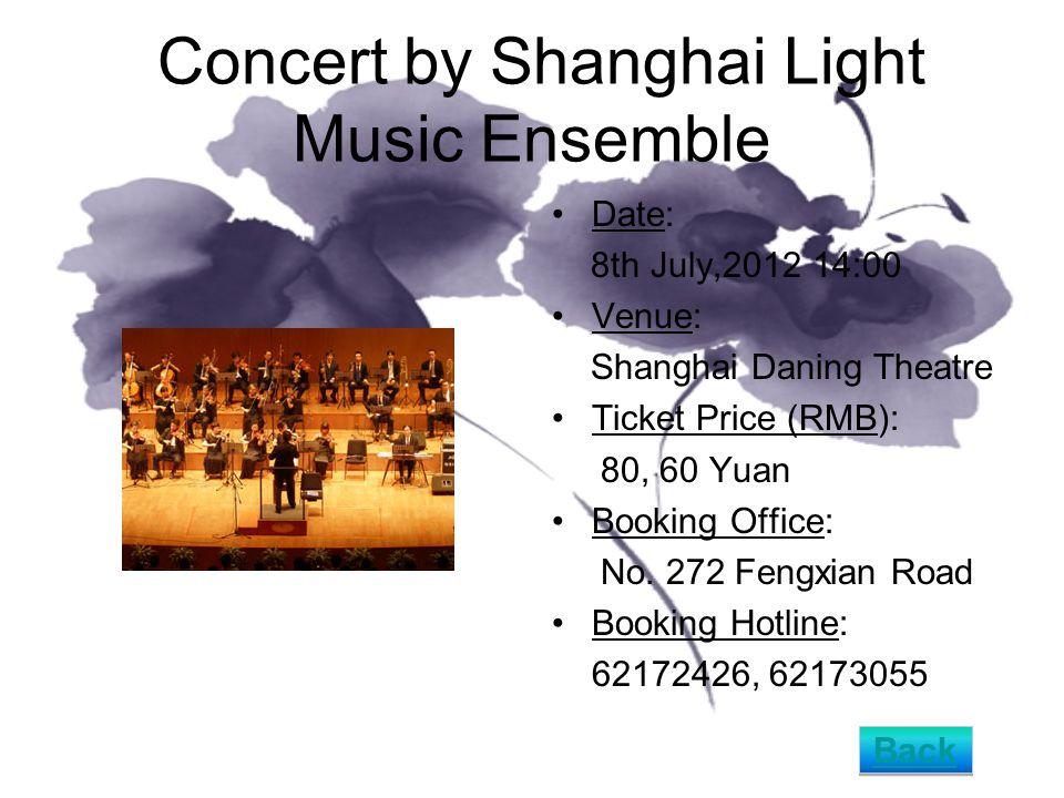 Shanghai Tango - Jinxing Dance Theatre Shanghai Date: 19th July,2012 19:15 Venue: Shanghai Oriental Art Center - Opera Hall Ticket Price (RMB): 420, 320, 220 Yuan Booking Office: No.