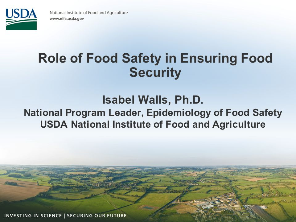 Link between food safety and food security: public health impact Malnourished individuals more likely to have severe outcome from diarrheal diseases (Black, Pediatrics, 1984; Bhandari, Acta Pædiatrica 1992) Vulnerable populations (infants; immunocompromized) more likely to have severe outcome –Cryptosporidium outbreak in Milwaukee, USA – (Mac Kenzie et al, NEJM, 1994) –Salmonella outbreaks among individuals with HIV (Levine, J.