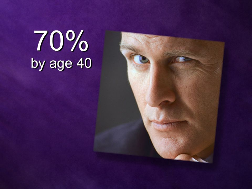70% by age 40