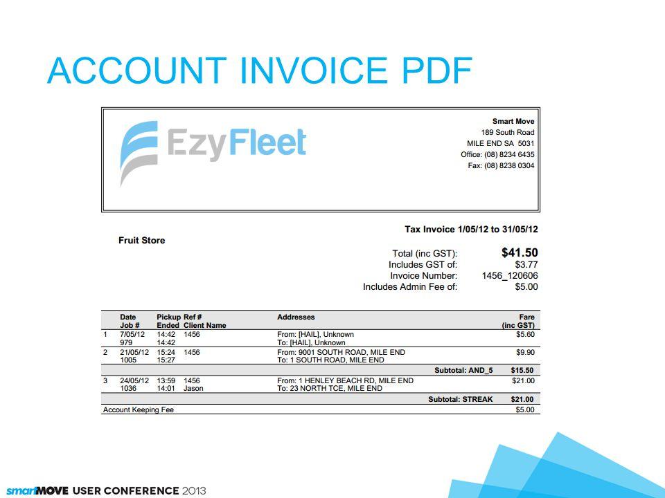 ACCOUNT INVOICE PDF