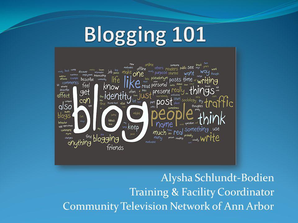 Alysha Schlundt-Bodien Training & Facility Coordinator Community Television Network of Ann Arbor