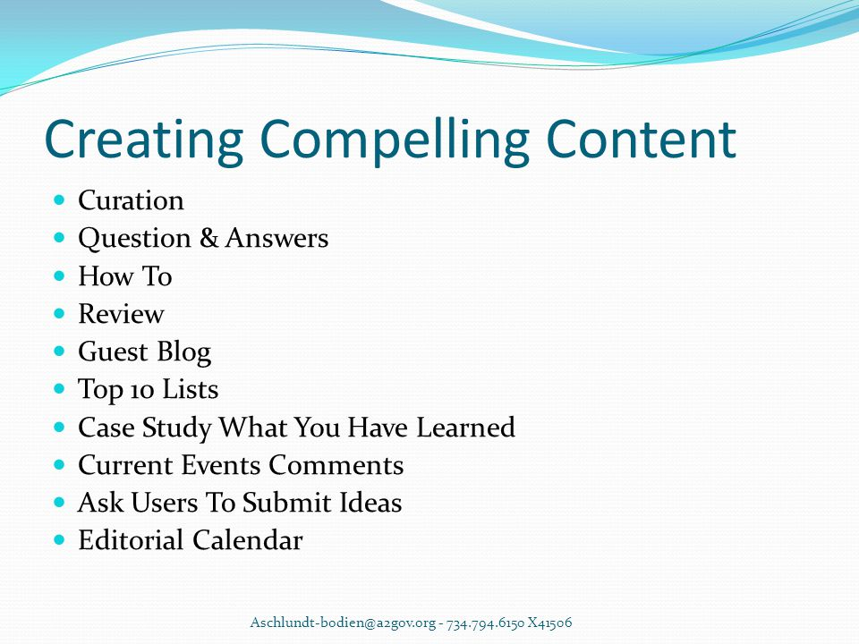 Creating Compelling Content Curation Question & Answers How To Review Guest Blog Top 10 Lists Case Study What You Have Learned Current Events Comments