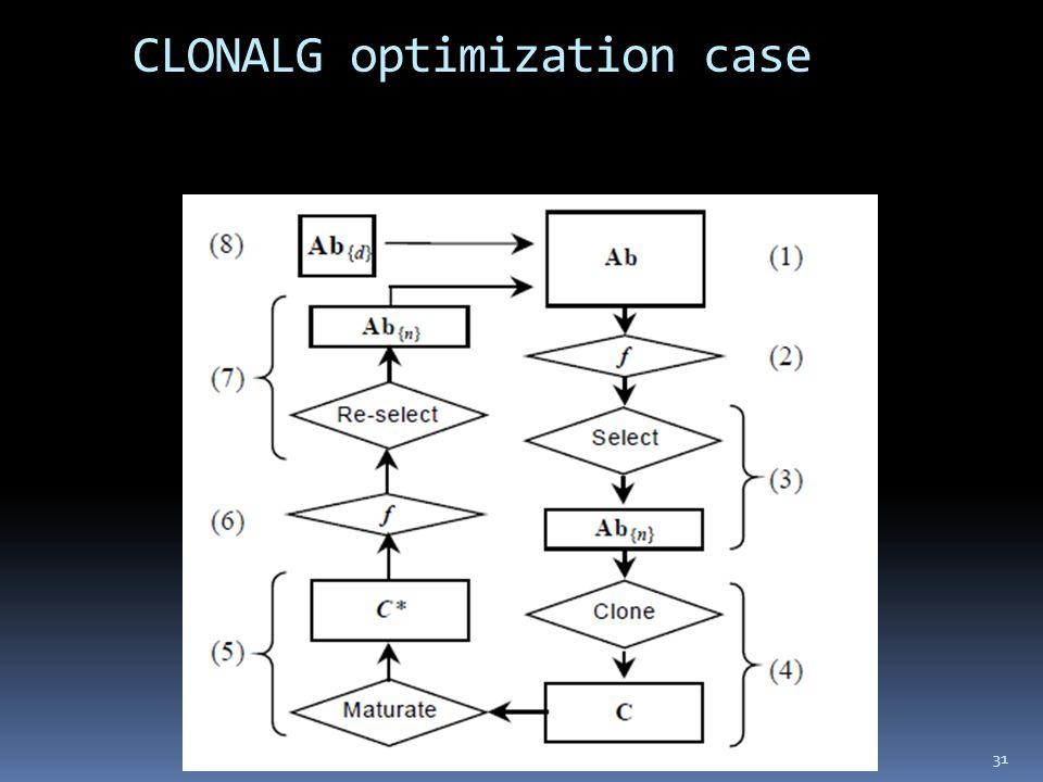 CLONALG optimization case 31