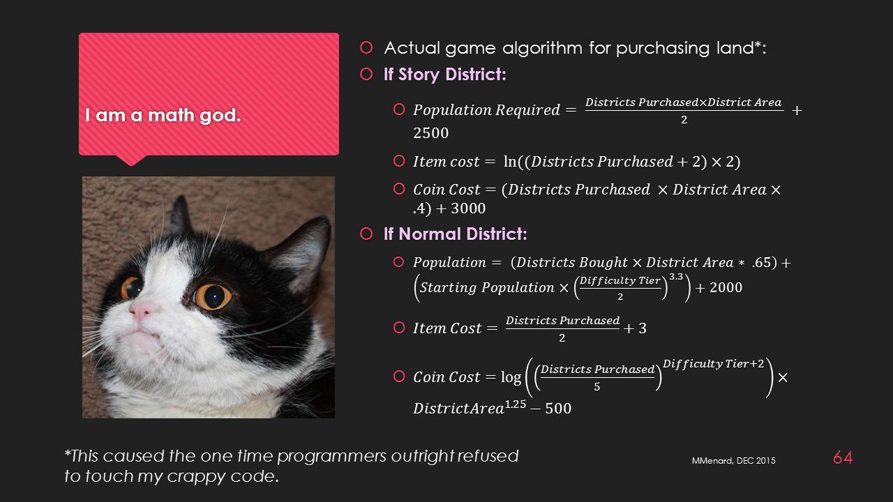 I am a math god.