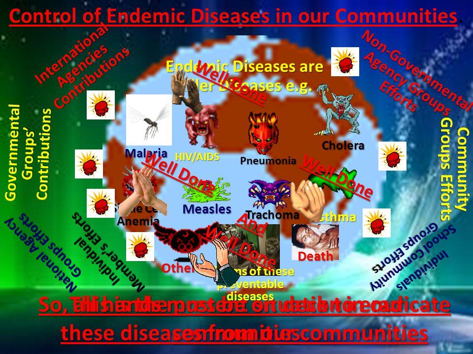 Endemic Diseases are Killer Diseases e.g.