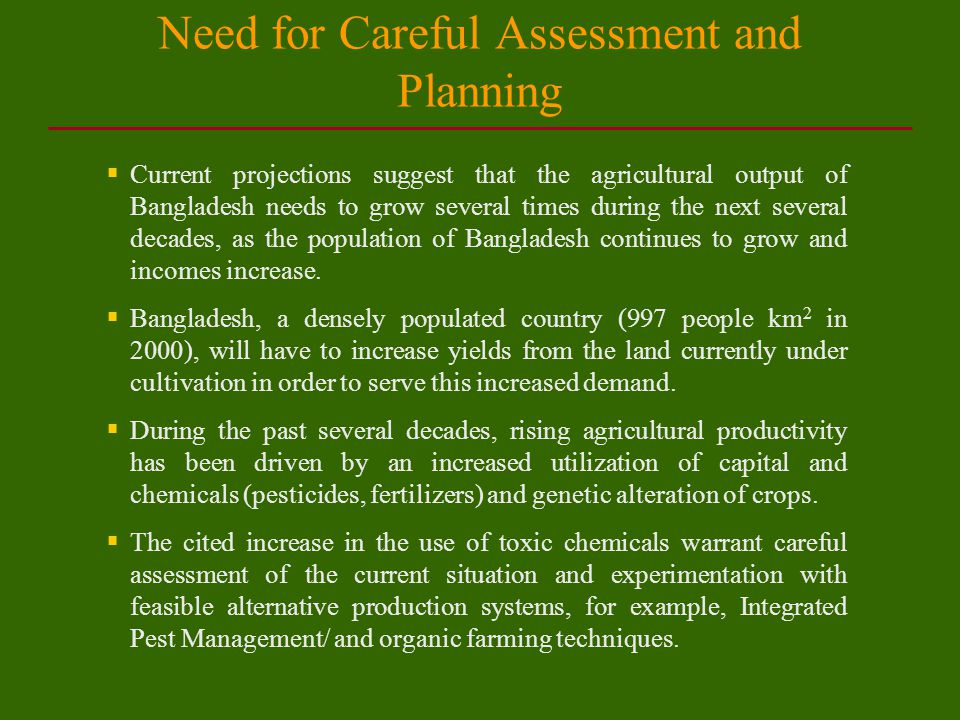 Limited Secondary Data on Pesticides The Department of Plant Protection, Ministry of Agriculture maintains 1.Time series of yearly consumption of pesticides.