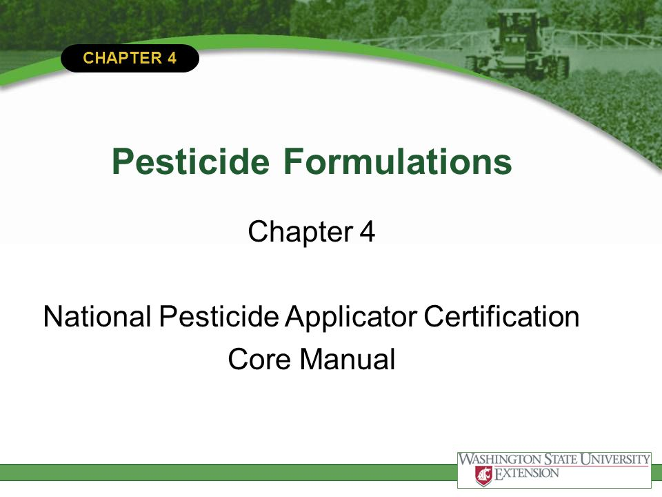 Adjuvants purchased additives to add to tank mix or added during formulation process  Wetting agents  Spreaders  Emulsifiers  Stickers/Extenders  Buffers  Compatibility agents  Defoaming agents  Colorants/dyes  Safeners  Thickeners Surfactants - groupOthers