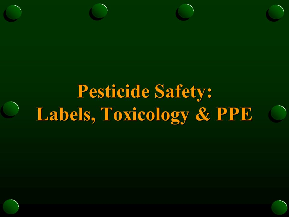 The Label is the Law Do Not Apply Any Pesticide in a Manner Not Specifically Listed on the Label!