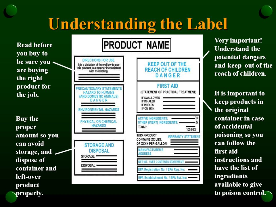 Federal law requires that highly toxic pesticides contain instructions for the physician on the label in case of pesticide poisoning.