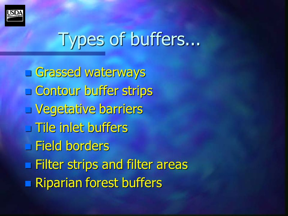Types of buffers...