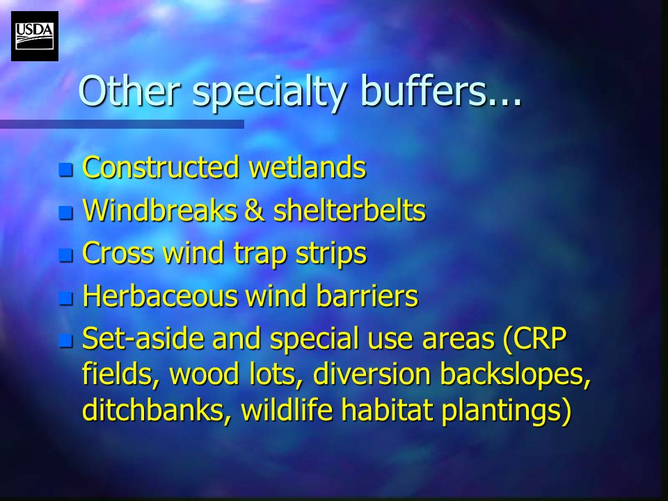 Other specialty buffers...