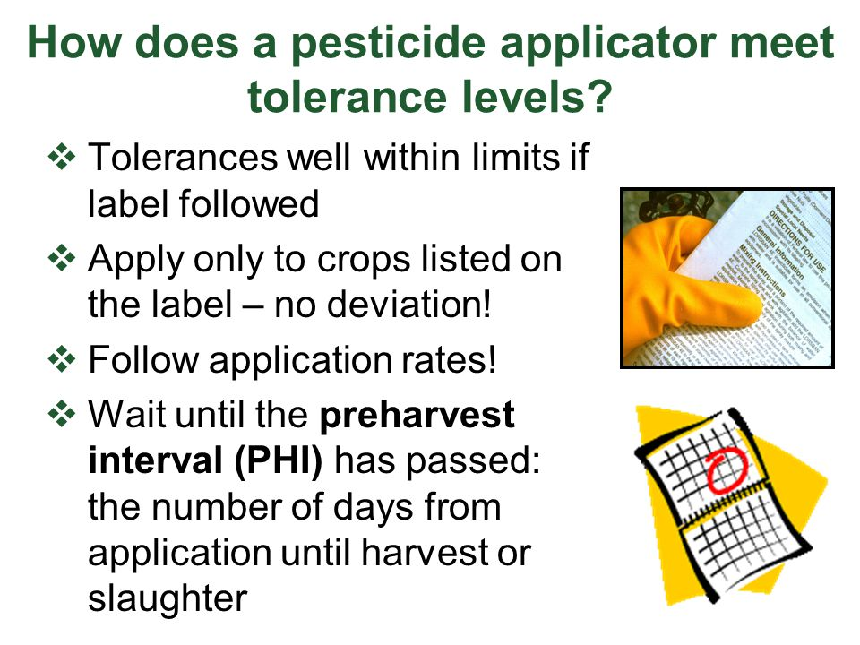 Violations of Federal Law:  Violation: Distributing, selling, or delivering an unregistered pesticide  Violation: Advertising not in accordance with the label specifications  Violation: Selling a registered product if its content does not conform with the label information