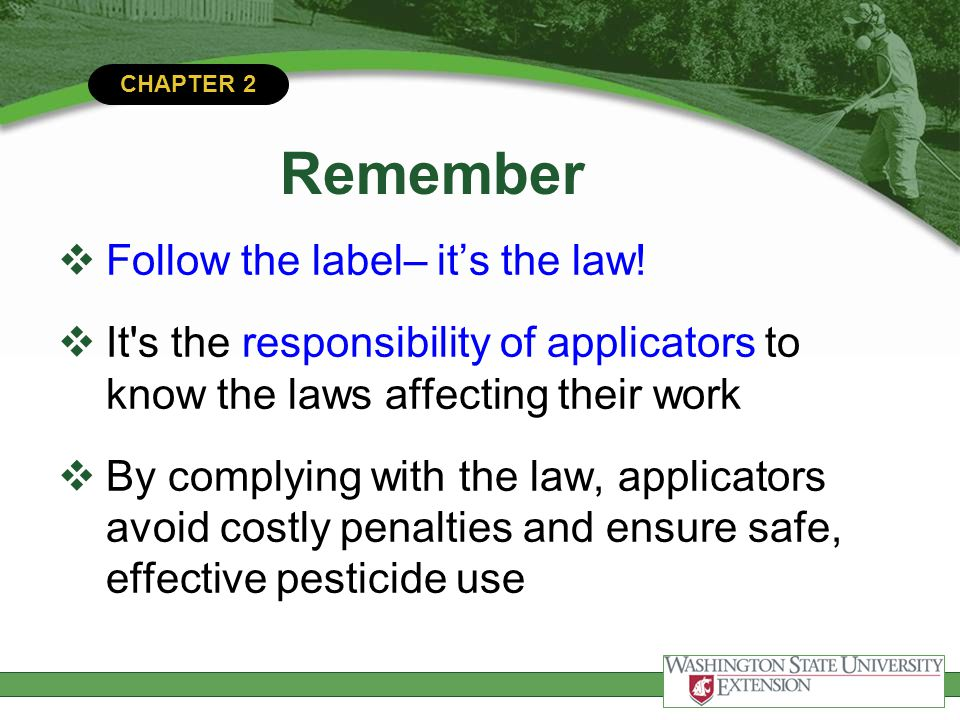 CHAPTER 2 Q1.Which federal agency sets pesticide tolerances.