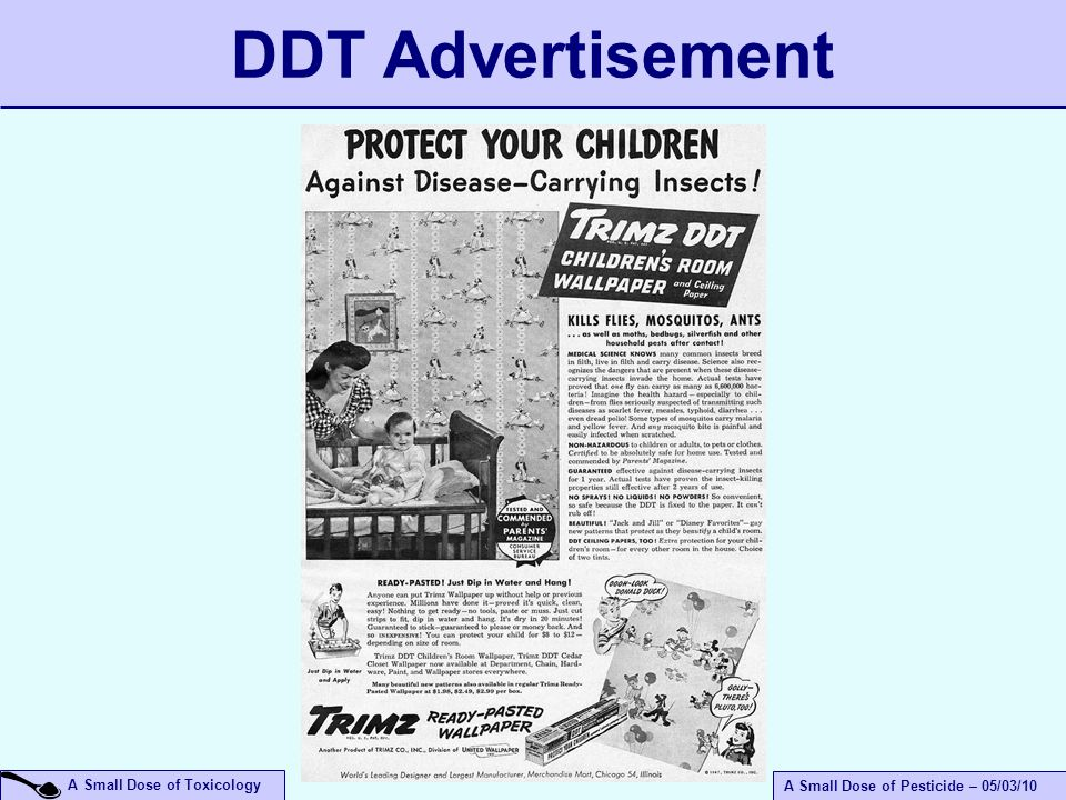 A Small Dose of Toxicology A Small Dose of Pesticide – 05/03/10 DDT Advertisement